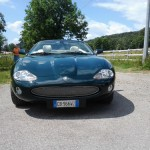 Riccardo's Beautiful XK8 Convertible 4.2 litres 2002 in British Racing Green in Italy
