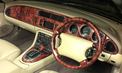 XK8 and XKR parts Replacement Dash Top in Burr Walnut