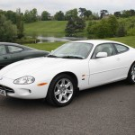 Jaguar XK8 in White Quite Unusual