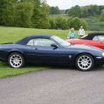 Nice XKR in Pacific Blue with Double Five Alloys