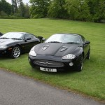 XKR with Matt Black Finish on Bonnet XKEC Growler 2012 Event