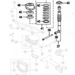 XK8 XKR Rear Springs and Shocks Absorbers Diagram