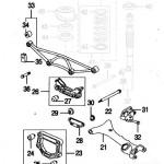 Jaguar XK8 XKR Rear Suspension Parts Layout 1