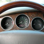 Jaguar XK8 XKR (X100) Polished Alloy Instrument Ring Set of 3