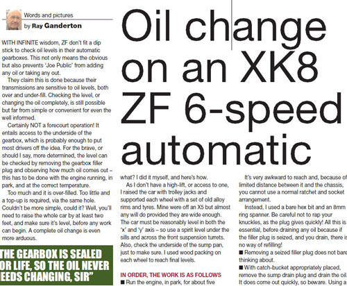 How to Change the Oil on a ZF6HP Automatic Gearbox as fitted to many Jaguar models