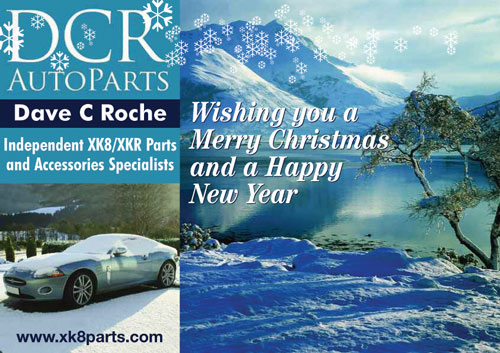 Merry Christmas and a Happy New Year from DCR Jaguar XK8 and XKR Parts