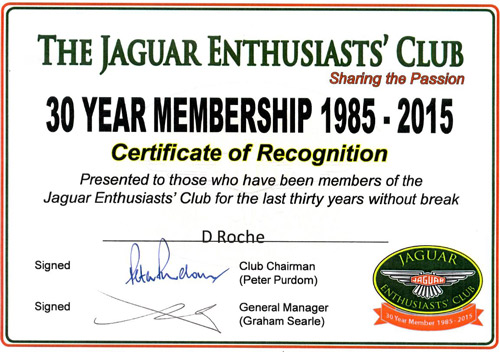 It's Nice to be recognised as an 'Old' Jaguar Enthusiast !!