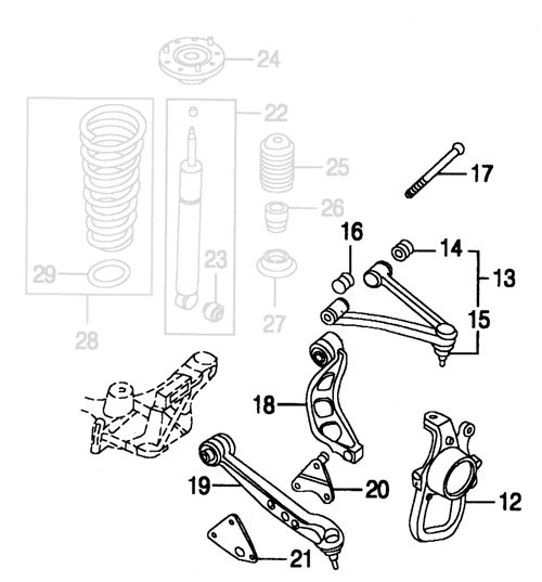 jaguar xk8 xkr front suspension parts