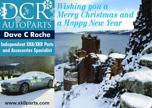 DCR XK8 XKR Parts and Accessories Seasons Greetings