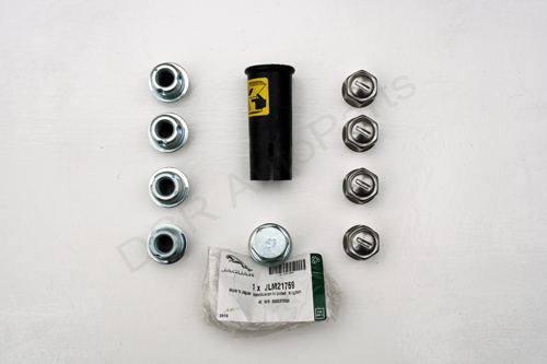 Jaguar XK8 XKR Genuine Jaguar Locking Wheel Nut Set JLM21769 )Short Wheel Nuts)