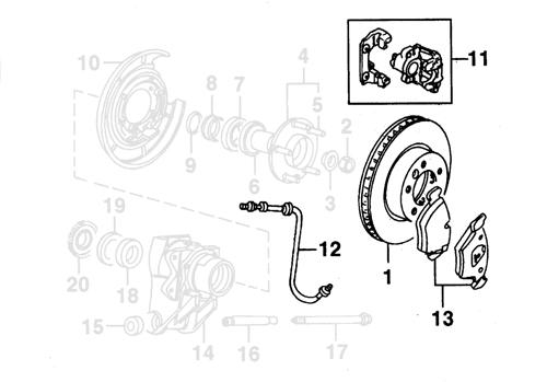 xk8 xkr parts rear brakes and hub assembly